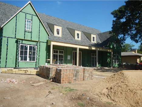 New Home Construction Site